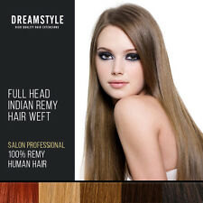 Full Head 100% Remy Human Hair Extensions Weft Saloon Professional Color