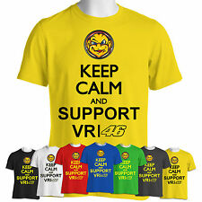 VALENTINO ROSSI T Shirt Keep Calm Support Vr46 Moto GP Tee Yamaha Top