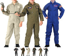 Kids Camouflage US Air Force Costume Military Flight Suit Coveralls