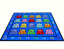 5'x8'& 8'x10' Silly Seats Educational Area Rug School Daycare Kids Room Play New
