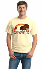 ANOTHER BEAUTIFUL DAY IN WILTON, IA Retro Adult Unisex T-shirt. Iowa City Pride