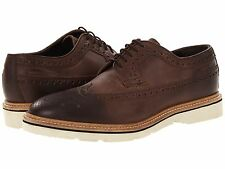 Hugo Boss Mens Bravox Dark Brown Lace-up Wingtip Business Casual Oxfords Shoes