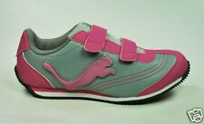 PUMA SHOES SPEEDER ILLUMINESCENT GRAY VIOLET GIRLS YOUTH STRAP VELCRO 349946 15