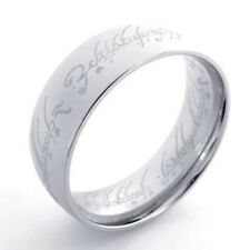 Lord of the Ring Stainless Steel Men's Band Ring US Size 7, 8, 9, 10, 11