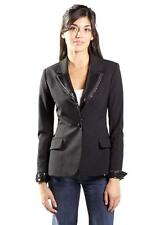 Mackage One-button wool blazer sequin detailing lapel Black CLA-BZ17 suit Jacket