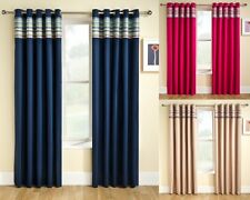 NEW SIESTA EYELET TOP THERMAL BACKED CURTAINS NEXT SEMI BLACKOUT PLAIN STRIPE