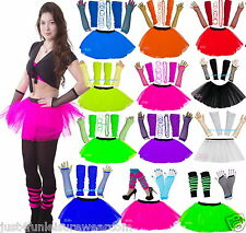 TUTU SKIRT SET NEON  80'S FANCY DRESS