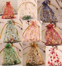 10pcs/100pcs Organza Gauze Jewelry Packing Pouch Wedding Favor Candies Gift Bags
