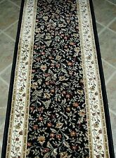 "Rug Depot Hall and Stair Runner Remnants - 26"" Wide - Radici Como 1593 Black"