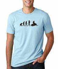 Mens Evolution of Man Snowmobile T-Shirt Winter Sports Racing
