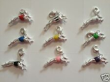 3D Greyhound Dog Race Charm, Gold Plate / Silver Plate Jewellery