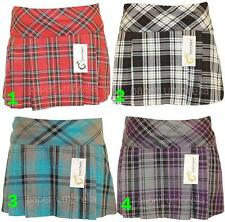 TARTAN MINI SKIRT short 14 inch kilt St Trinians Hen Party Size 8 10 12 14