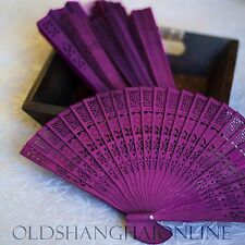 10 Sandalwood Fans Colored Floral Scent Wedding Favors 6 Colors (AD1)