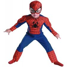 Spider-Man Muscle Toddler Boys Superhero Spiderman Halloween Costume