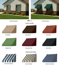 Contemporary Window Awnings with Straight Valence in 7 Colors & 3 Stripe Pattern