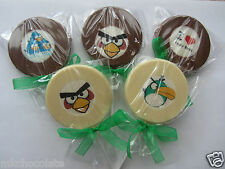 ANGRY BIRD CHOCOLATE LOLLIPOPS/SWEETS PARTY BAG FILLERS/BIRTHDAY GIFT