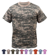 Digital Camo Tactical T-Shirt, Camouflage Military Tee Short Sleeve Army Tshirt