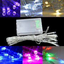 20 LED String Battery Operated Fairy Lights White/Colour Christmas Wedding Party
