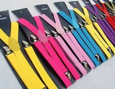 New Punk Women Or Mens Clip On Adjustable Suspenders Unisex Costume Party Braces