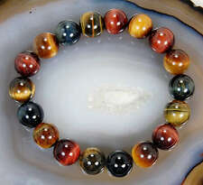 Gemstone Beaded Bracelets, Agate, Onyx, Tigers Eye, Bloodstone,
