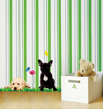 7 Different Dog Wall Stickers Removable Puppy Home Decor Decals for Kids Rooms
