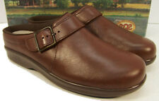 SAS Clog Craddlefit Brown Leather Low Heel