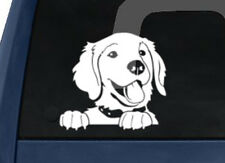 Show Dog Breed - Happy Golden Retriever - Car Tablet Vinyl Decal
