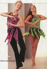 CALL OF THE WILD Animal Print BRIGHT Dance Costume Jazz Ballet GROUPS! AS,AM,AL