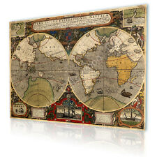 LARGE Canvas Old Vintage Antique World Map GICLEE gallery art prints photos