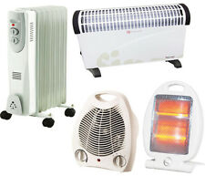 Portable Electric Heater 2000/800W/2 KW Oil Filled/Thermostat Convector/Fan New