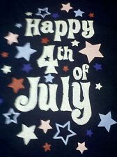 NEW * Happy 4th Of July * Blue Patriotic One Piece Baby Outfit * Choose Size