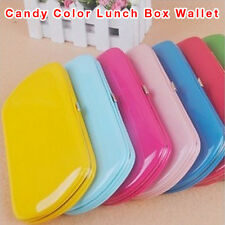 Lady Candy Color Arc PU Leather Card Holder Bag Long Clutch Handbag Purse Wallet