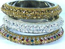 Crystal Lac Bangle Bracelet Large Swarovski Quality Bridal Fashion Jewelry India