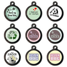 Cool Cute Rescue Personalised Pet Dog Cat Name ID Tag Pet Tag  - Engraved FREE