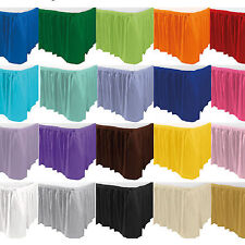14 Foot Plastic Table Skirt Decoration Birthday Wedding Party All Colours PA