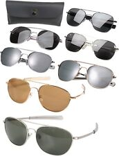 58MM Aviator Military Air Force Pilot Sunglasses Lenses with Case