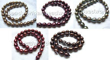 variations color 10-11mm rice Genuine Natural freshwater pearl necklace bib