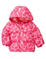 GYMBOREE LOVEABLE GIRAFFE PINK GIRAFFE SKIN HOODED JACKET 6 12 24 2T 3T NWT