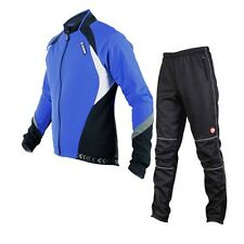 Sobike Blue Cycling Suits Fleece Winter Jacket-Aurora Fleece Pants-Gelimo Black