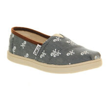 Kids Toms Youth Classics Skull Chambray Exclusive Kids
