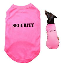 Dog T Shirt Pink Security XS- 4XLChihuahua Staffy Puppy Pet Clothes Coat  Girl