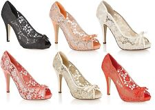 NEW WOMENS HIGH HEEL EMBROIDERY PEEPTOE SHOES LADIES EVENING PARTY SANDALS
