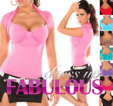 New Sexy Women's Bolero Top Size 6-8-10 S/M Hot Party Casual Wear Shirts Fashion