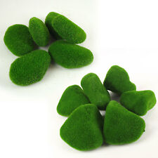 Bag of 6x Artificial Moss Rocks / Cobbles / Balls in TWO Sizes! Foliage Leaves