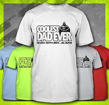 COOLEST DAD EVER DARTH VADER FUNNY FATHER'S DAY FATHERS STAR WARS T-SHIRT TEE