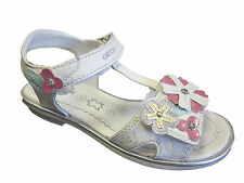 Geox Giglio G New Girls Leather Sandals In White