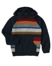 GYMBOREE ARTIC TRAILS MULTI COLOR STRIPE HOODED SWEATER 3 4 5 6 7 8 10 12 NWT