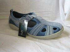 "LADIES FOOT THERAPY TRAINERS VELCRO ""BESS"" BLUE"
