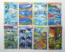 Dolphins and Shark  Stickers 4x6'' (10x15cm)