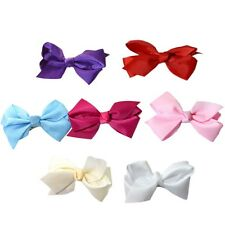 2 X Girl Large Ribbon Bow Hair Alligator Clip Slide Pins Baby Toddler